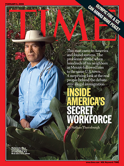 TIME Magazine Cover: Inside America's Secret Workforce -- Feb. 6, 2006