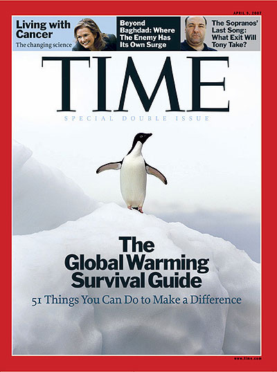 Click for larger image - April 2008 Time cover with penguin