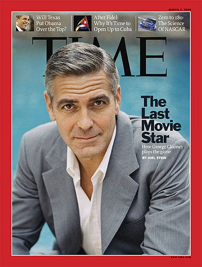 A portrait of George Clooney George Clooney photographed at his home in Studio City, Calif., on Feb. 18, 2008, exclusively for TIME by Sam Jones