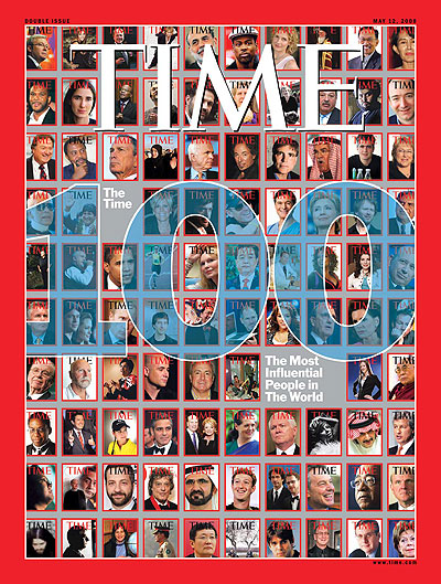 Covers of The Most Influential People in The World. Design for TIME by Chip Kidd
