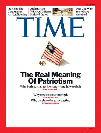 Time magazine cover the real meaning of patriotism july for Time magazine person of the year cover template