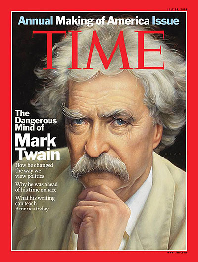 Illustration of Mark Twain