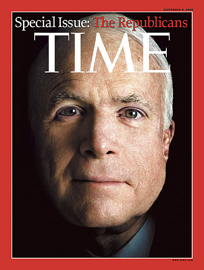 Close up photo of John McCain. Photograph by Platon