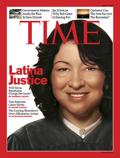 Illustration of Judge Sonia Sotomayor
