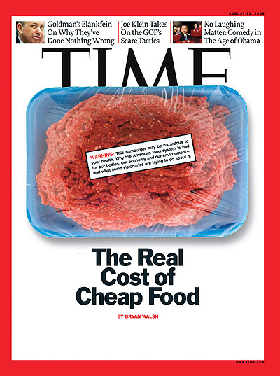 Aug 2009 Cover - The Real Cost of Cheap Food