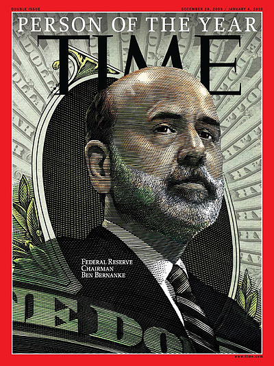 Illustration of Federal Reserve Chairman Ben Bernanke