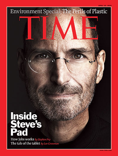 Close-up of Steve Jobs