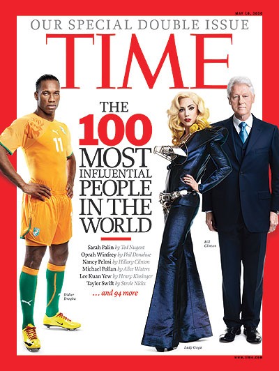 TIME 100: Didier Drogba, Lady Gaga, Bill Clinton