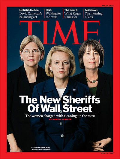 Elizabeth Warren, Mary Schapiro and Sheila Bair