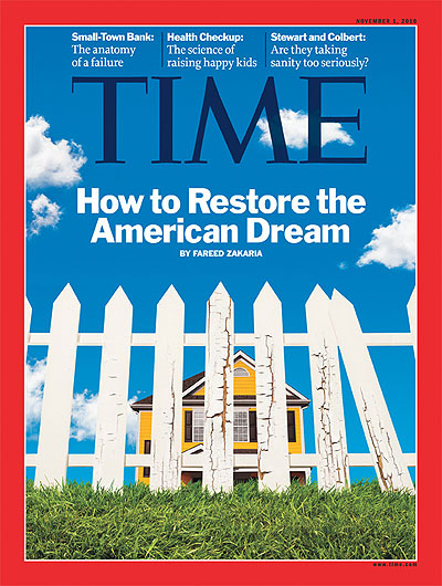 Time Magazine Cover How To Restore The American Dream