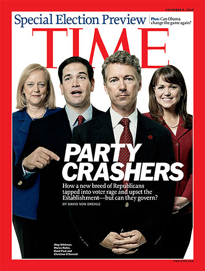Meg Whitman, Marco Rubio, Rand Paul and Christine O'Donnell