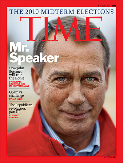 Close-up of John Boehner
