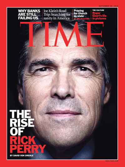 A close-up of Texas Governor Rick Perry