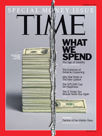 TIME Magazine Cover: Special Money Issue: What We Spend -- Oct. 10, 2011