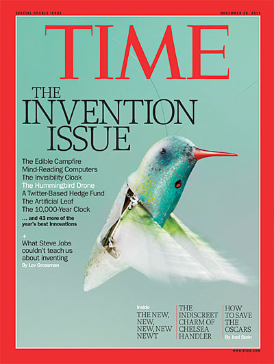 A robotic hummingbird
