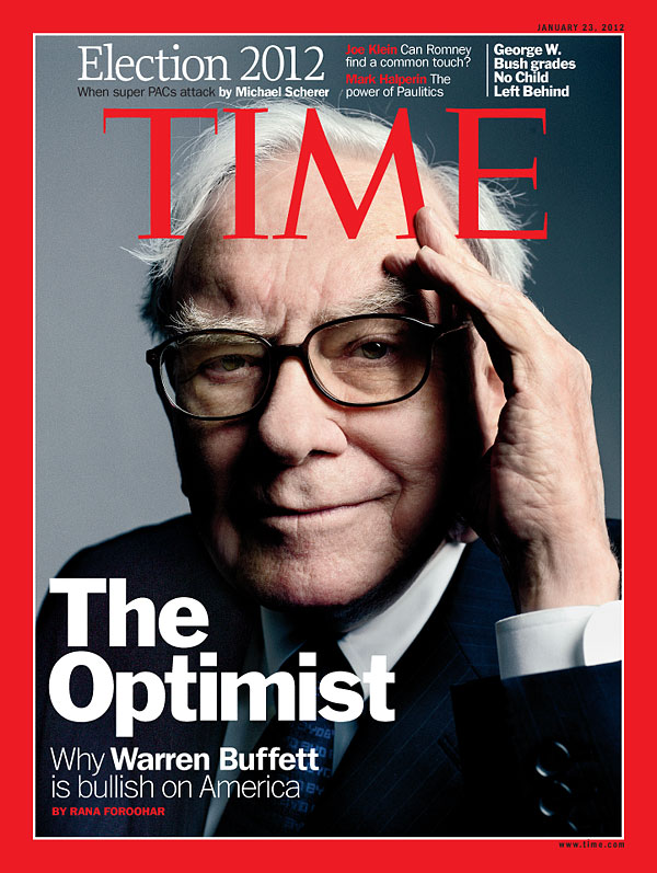 TIME Magazine Cover: The Optimist - Jan. 23, 2012 - Warren Buffett ...