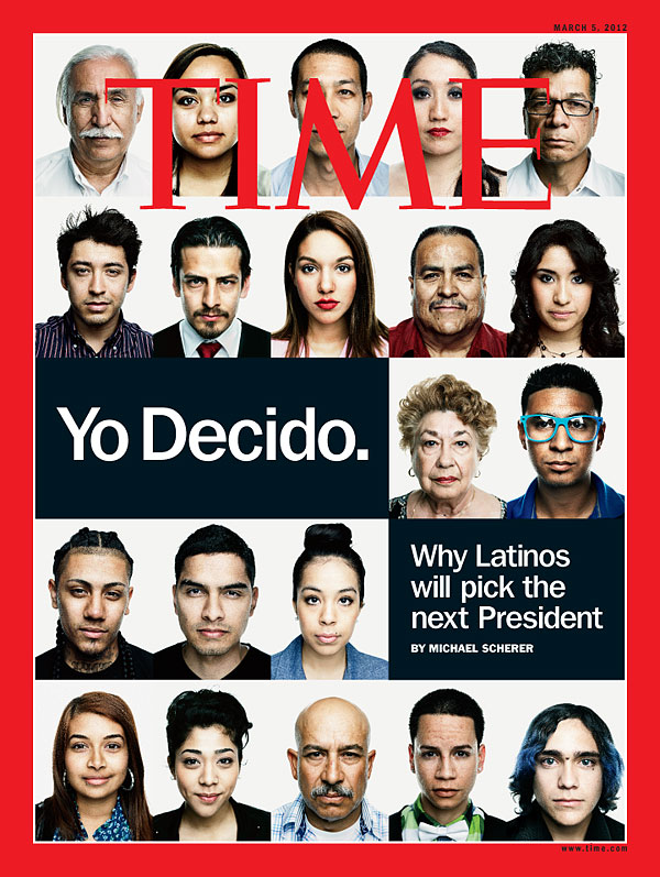 Portraits of Latino voters.