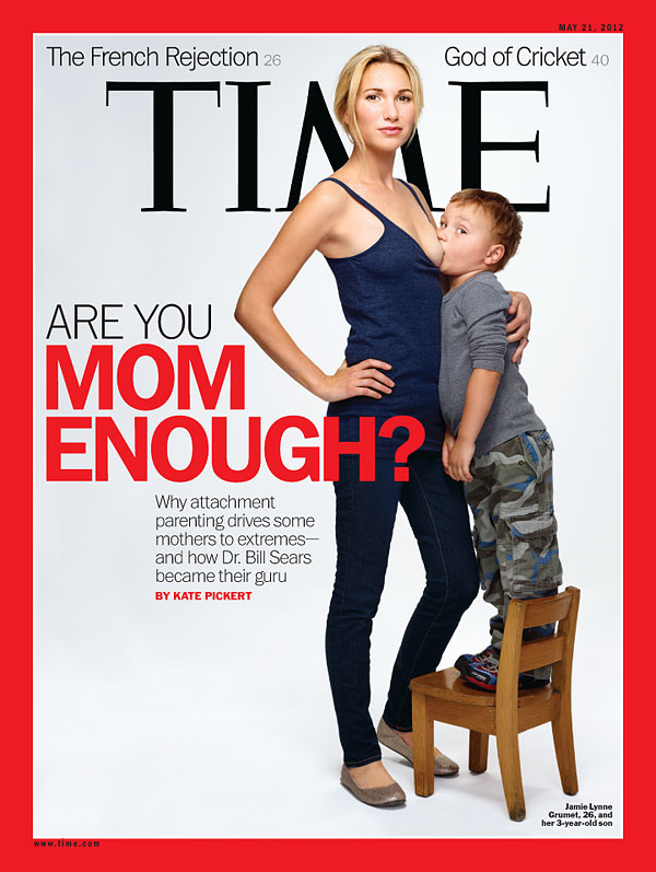 Time magazine woman with breast-feeding child