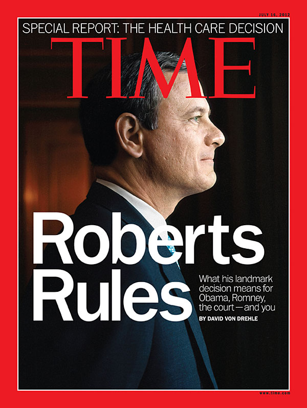 A profile portrait of Chief Justice Roberts