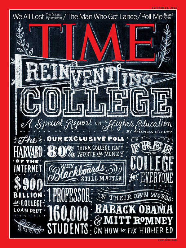 time magazine cover reinventing college oct 29 2012