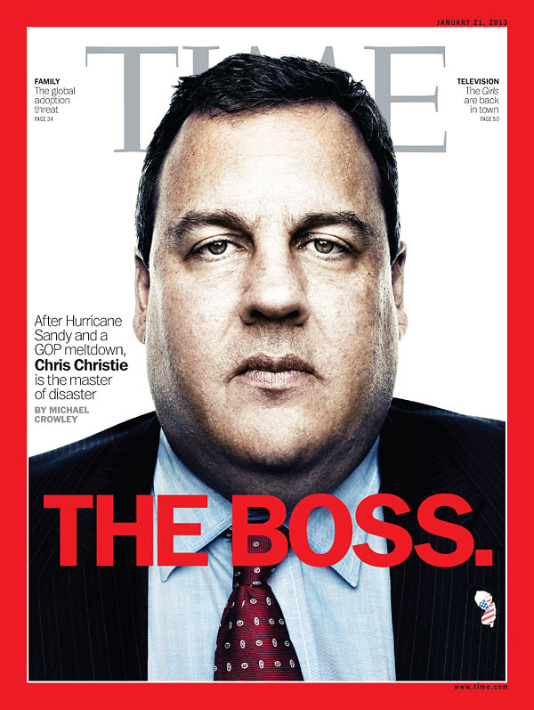 TIME Magazine Cover: The Boss - Jan. 21, 2013 - Chris Christie ...