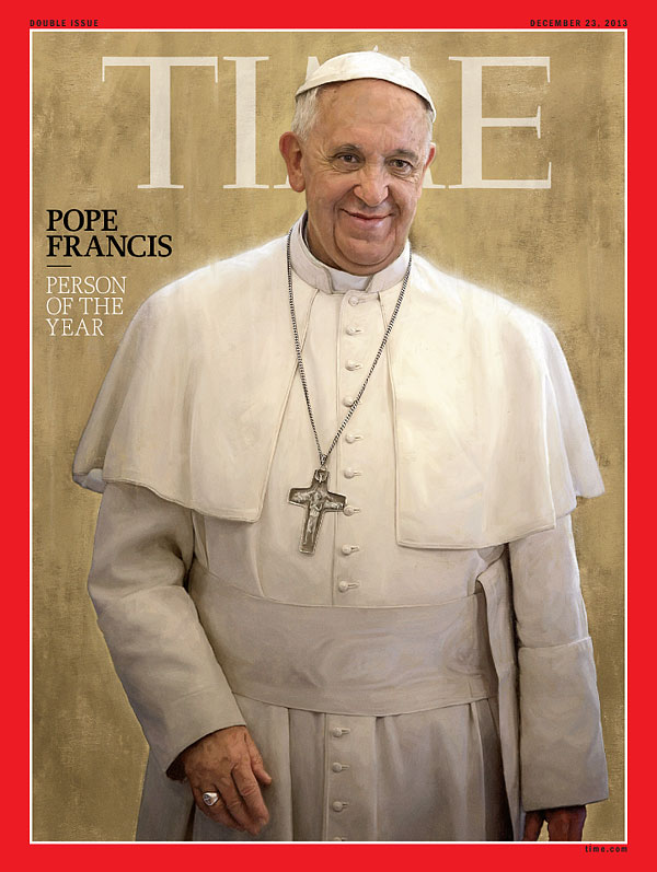 Illustration of Pope Francis