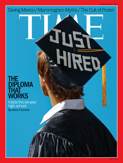 time magazine cover the diploma that works feb 24