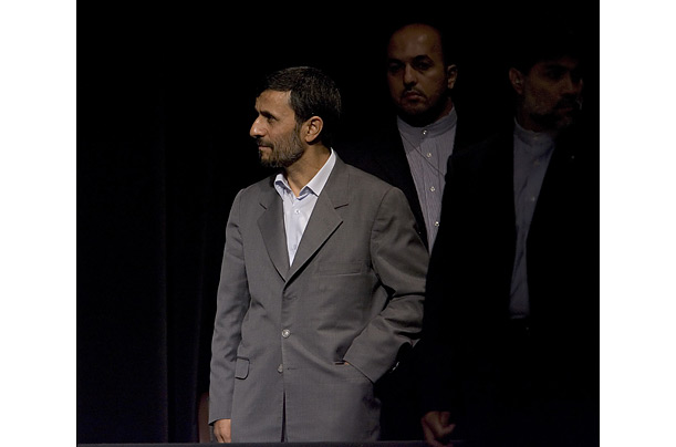 Iranian President Mahmoud Ahmadinejad UN General Assembly New York Guard