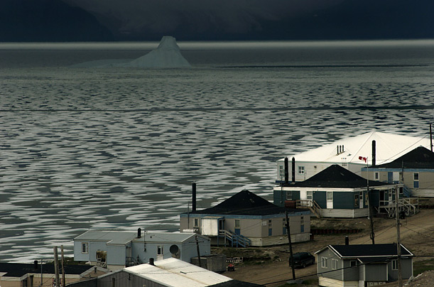 Pond Inlet, a town in Canada's Nunavut Territory, clings to the banks of Baffin Bay.