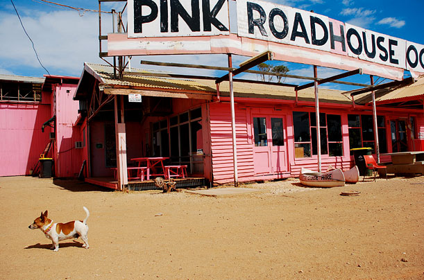 Iconic roadhouse in Oodnadatta, South Australia
