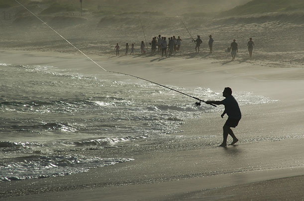 Fishermen at Fingal Bay, New South Wales