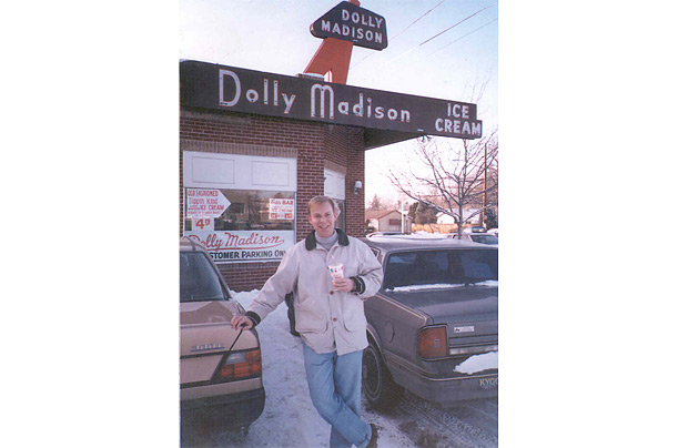 Ells stands in front the Dolly Madison ice cream shop in Denver which he bought in 1993 and converted into the first Chipotle restaurant.
