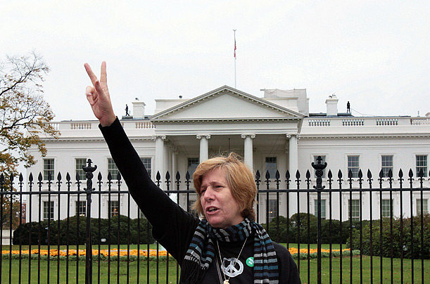 Cindy Sheehan Ant-War Movement Bush Iraq War