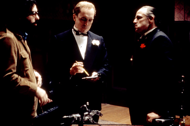 Francis Ford Coppola directs Robert Duvall and Marlon Brando, in what would become his first masterpiece. The film won the Academy Award for Best Picture in 1972.