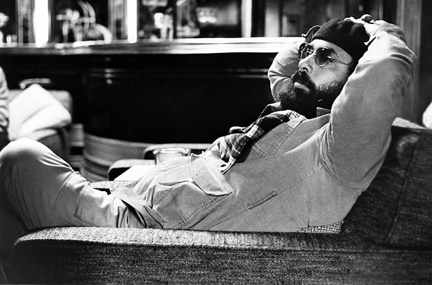 Coppola takes a minute to relax in a chair used in a boathouse scene of the Godfather sequel. Perhaps the greatest sequel ever made, the Godfather II, like its predecessor, won the Academy Award for Best Picture.