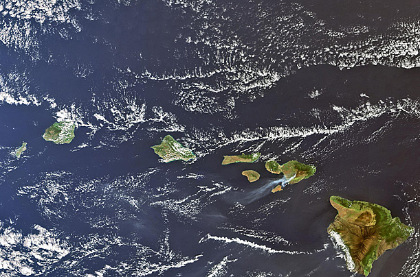 hawaii earth space satellite