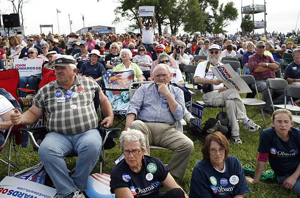 Tom Harking Steak Fry Iowa Democrat Hillary Clinton Barack Obama John Edwards Criss Dodd Joe Biden Bill Richardson
