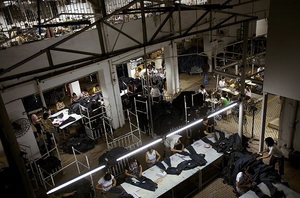 Workers at this jeans factory in the Chinese boomtown put out 10,000 pairs a day, almost all of them in the fashionable