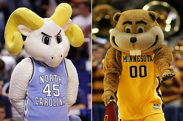 Mascots University of North Carolina  Ramses University of Minnesota Goldie the Golden Gopher