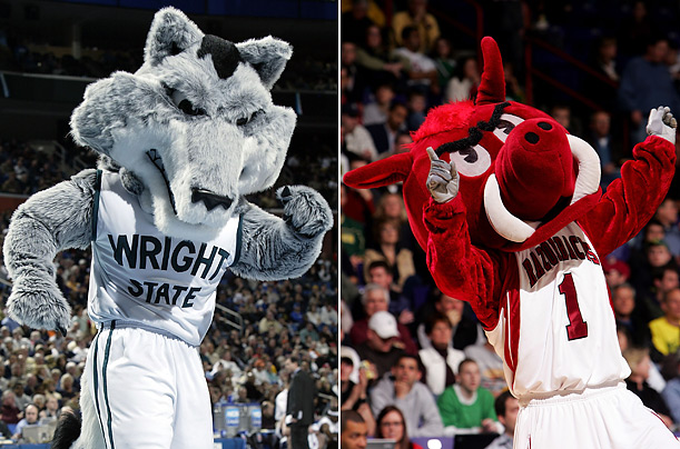 Mascots Wright State University The Rowdy Raider University of Arkansas Big Red, the Fighting Razorback