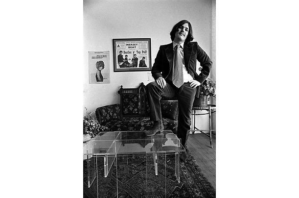Founder and publisher of <span style='font-style: italic'>Rolling Stone</span> Magazine, Jann Wenner, in his office in San Francisco, California, 1969.