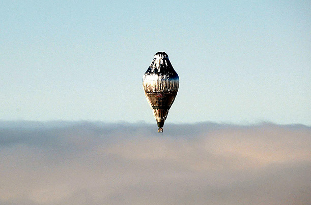 In 2002, Fossett set from Northam, Western Australia, in this balloon for his sixth attempt to become the first person to circumnavigate the globe alone, nonstop, in a balloon.