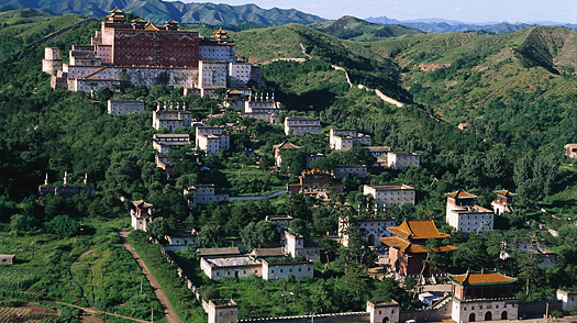 Tibetan-style Monastery in Chengde, a historical site on World Heritage List of UNESCO Chengde, China