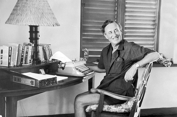 Fleming, at home in Jamaica, wrote at speed on his portable Royal typewriter and completed his first Bond story, Casino Royale, in a month