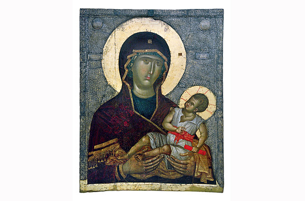 The icon with the Virgin Psychosostria, mid 14th Century