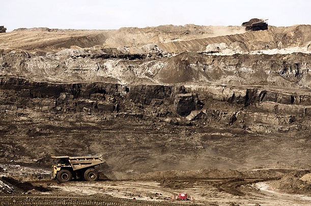 Oil in the Sand Canada Alberta ProvinceSyncrude is mining black gold