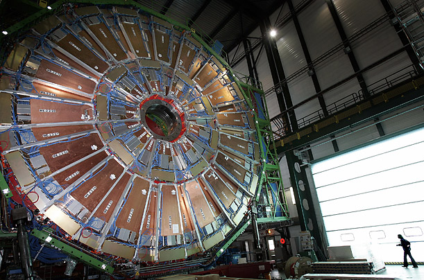 Weighing over 12,500 tons, the CMS is one of two large general purpose detectors built on the Large Hadron Collider (LHC).