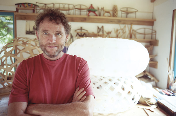 Furniture designer David Trubridge