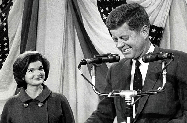 Because the contest was so close, the Kennedys spent election night behind closed doors. Once his victory had been announced the following day, John and Jackie emerged from the family compound in Hyannisport to speak to the country.