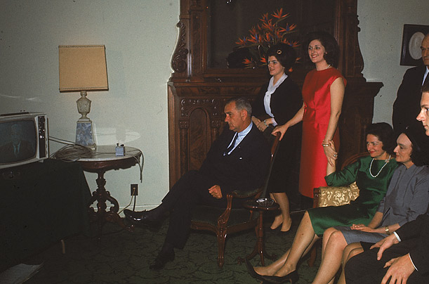 A year after the tragic events of Dallas, 1963, victory for LBJ was a relatively somber affair.